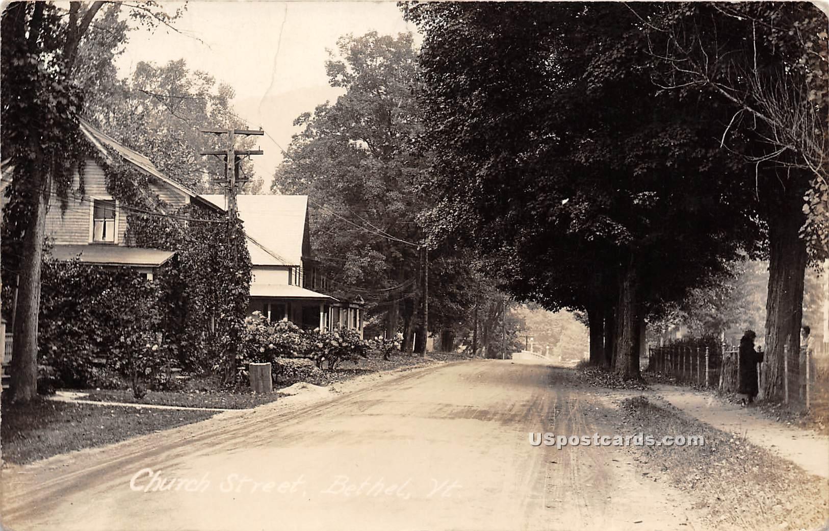Church Street - Bethel, Vermont VT Postcard