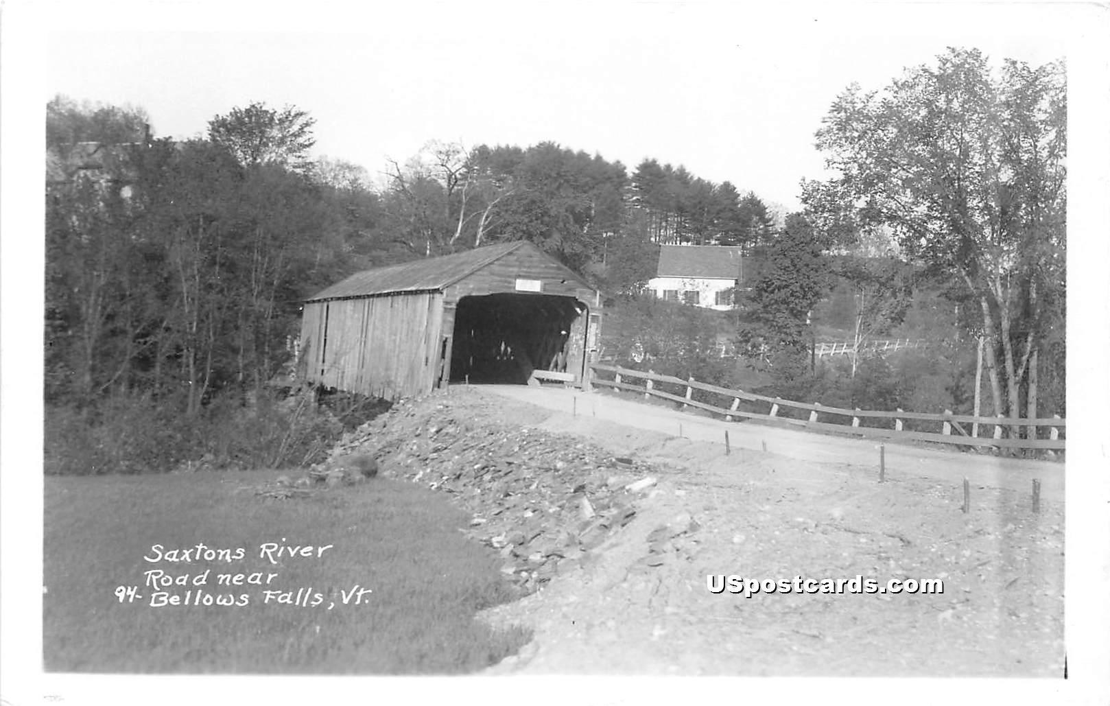 Saxtons River - Bellows Falls, Vermont VT Postcard