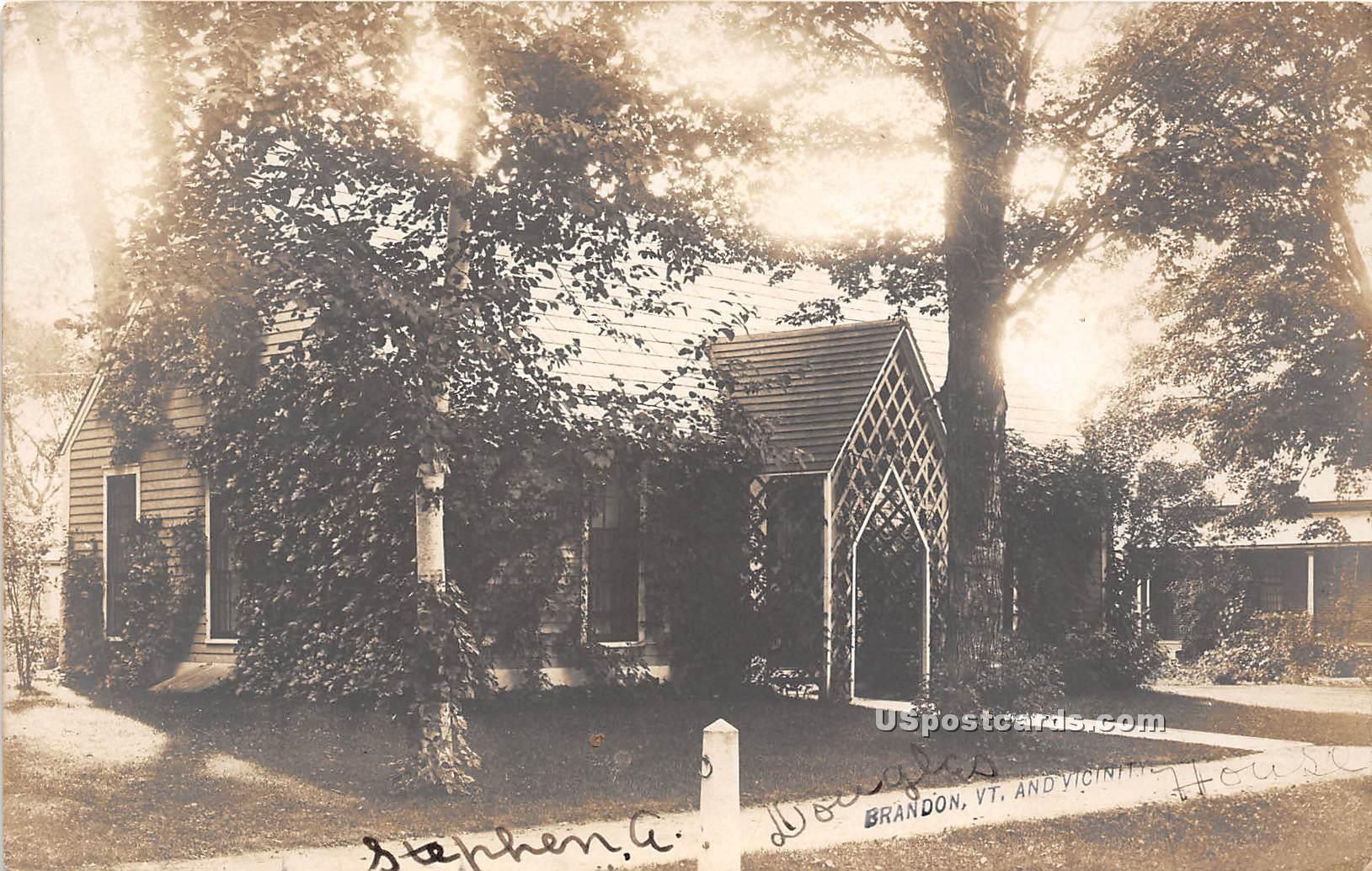 Stephen A Douglas House - Brandon, Vermont VT Postcard