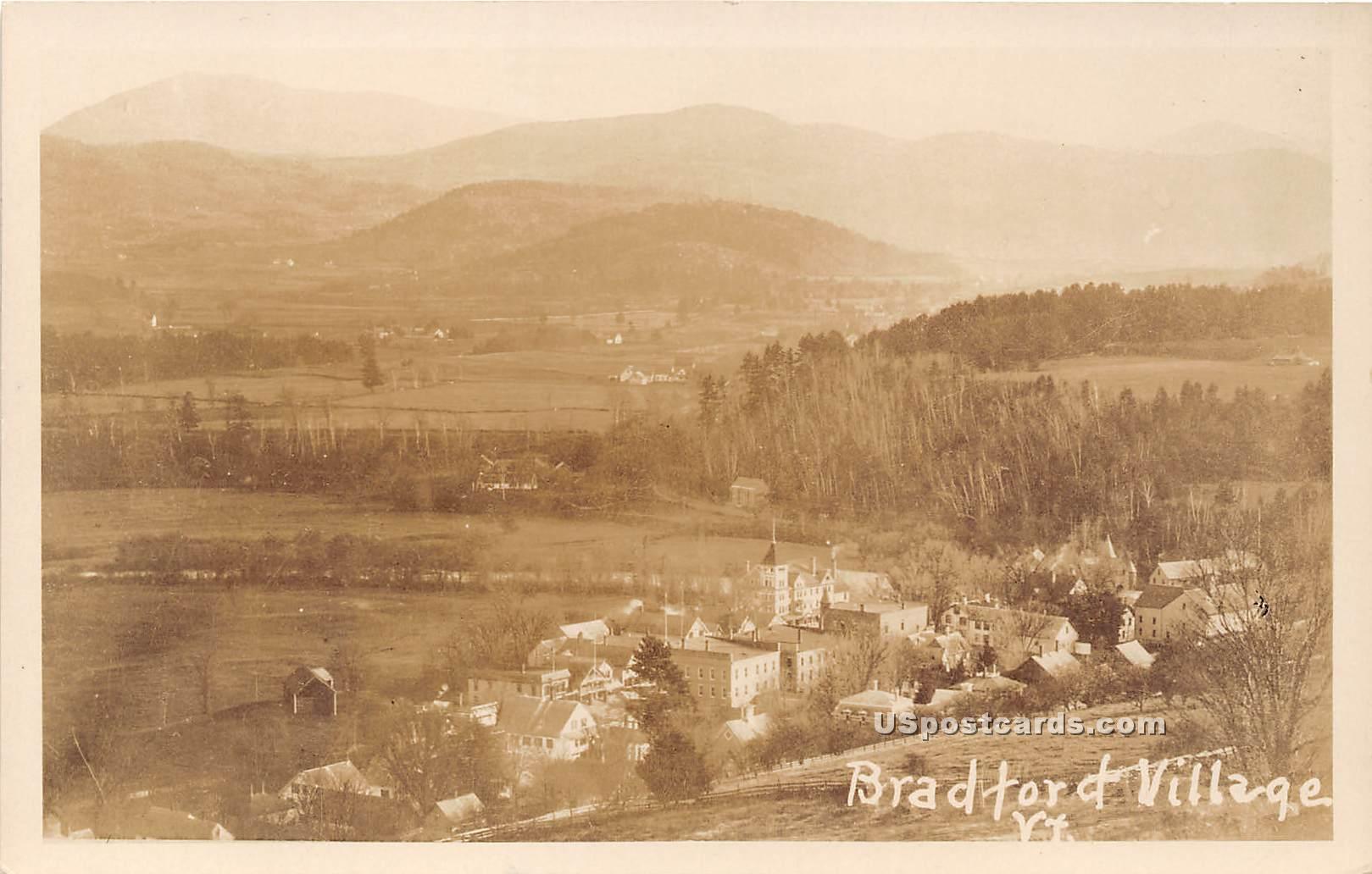 Birdseye View - Bradford Village, Vermont VT Postcard