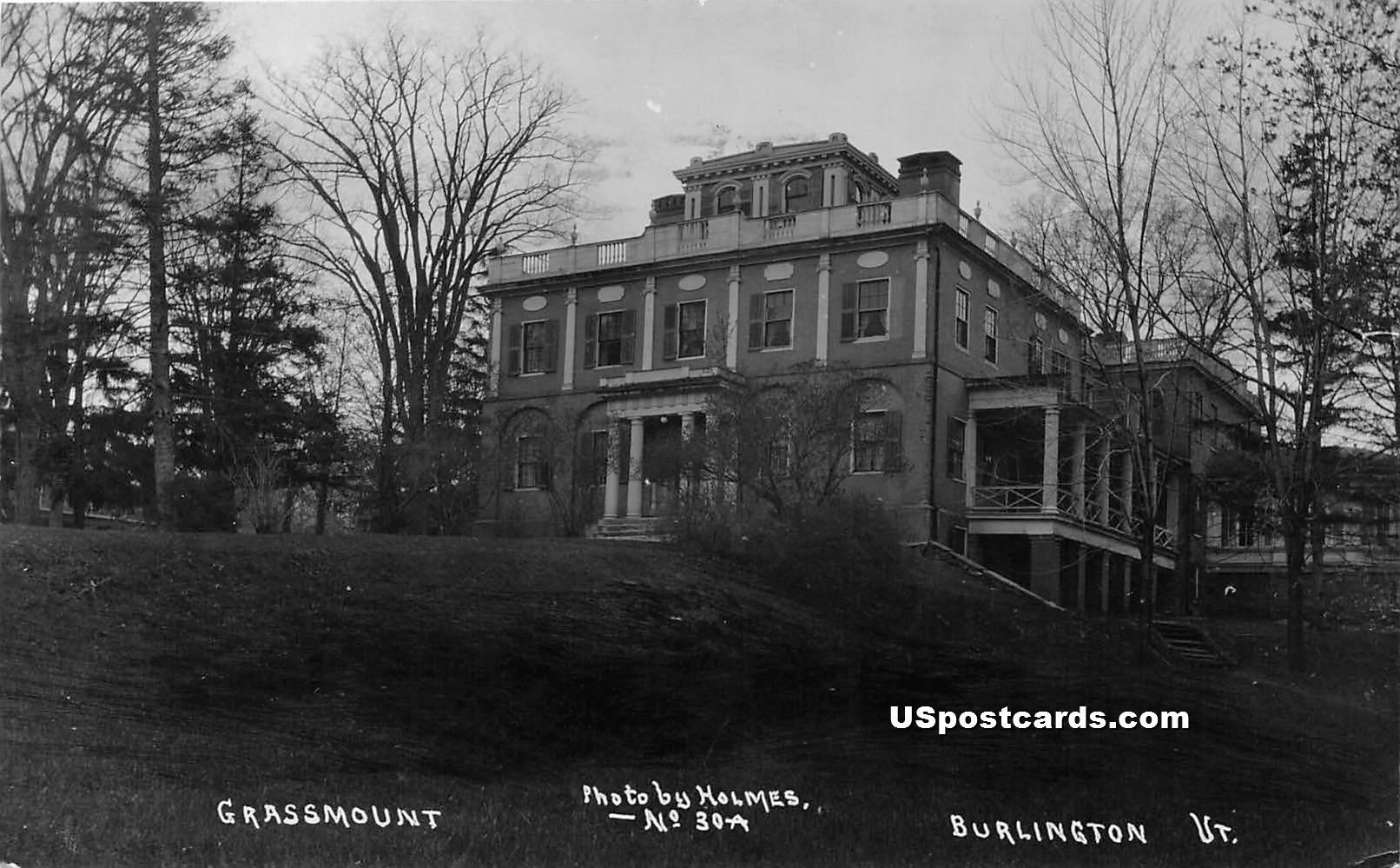Grassmount - Burlington, Vermont VT Postcard