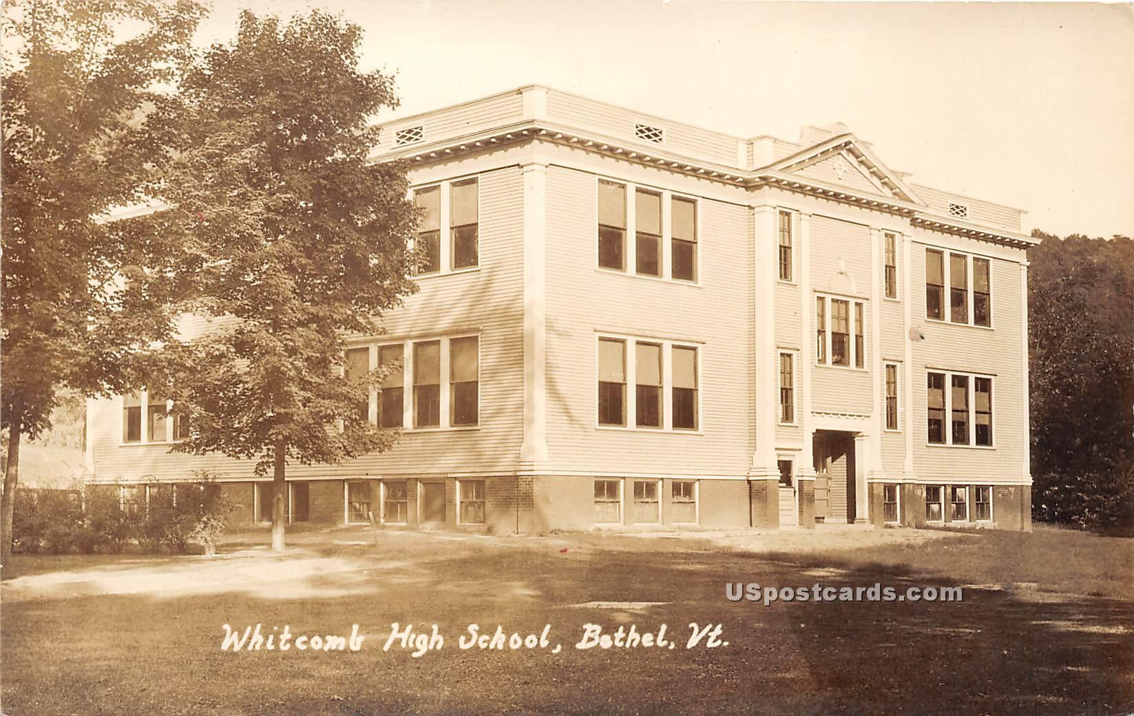 Whitcomb High School - Bethel, Vermont VT Postcard