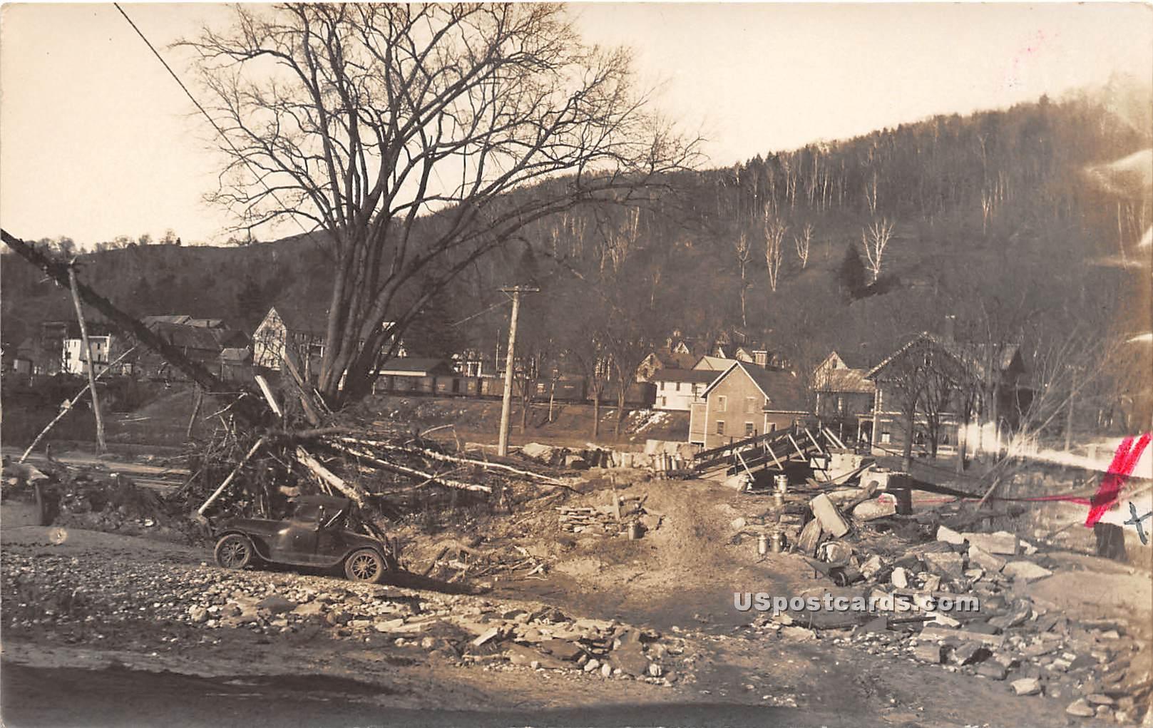Flood Nov 3, 1927 - Bethel, Vermont VT Postcard