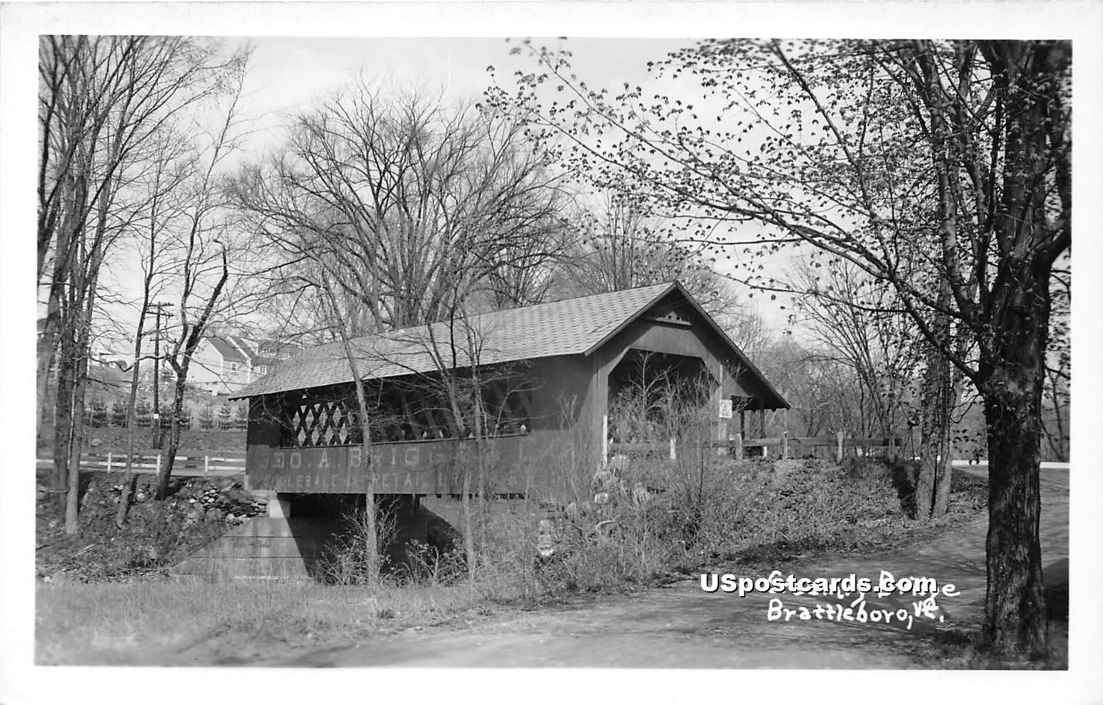Creamry Bridge - Brattleboro, Vermont VT Postcard