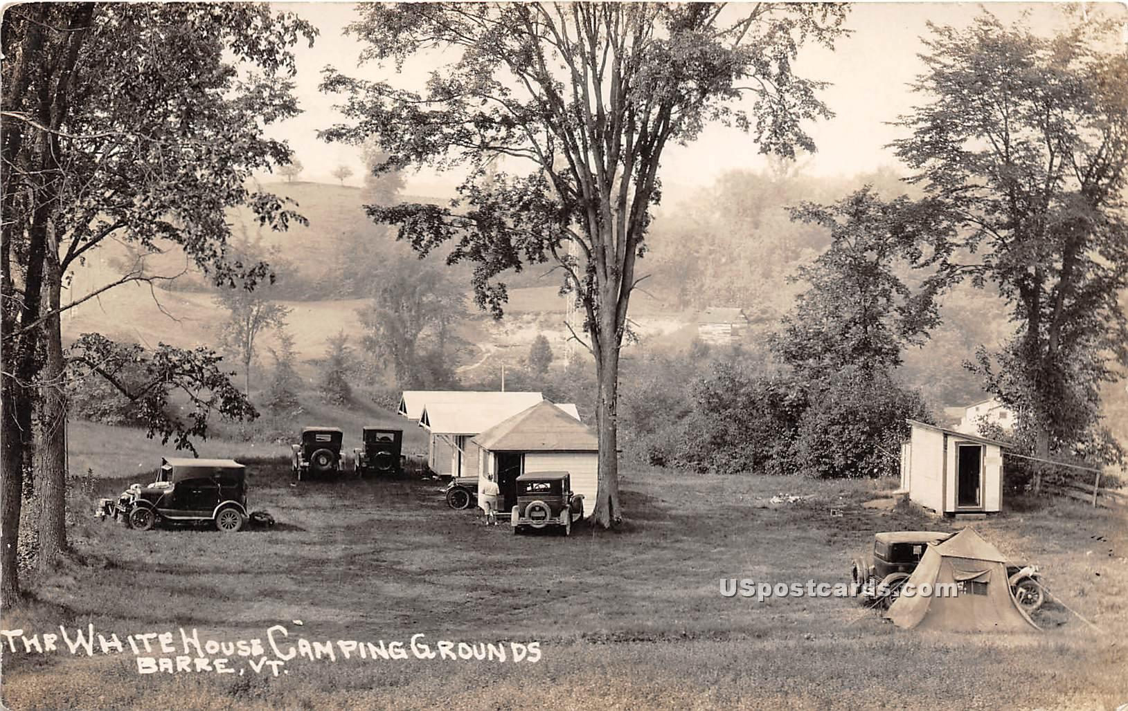 White House Camping Grounds - Barre, Vermont VT Postcard