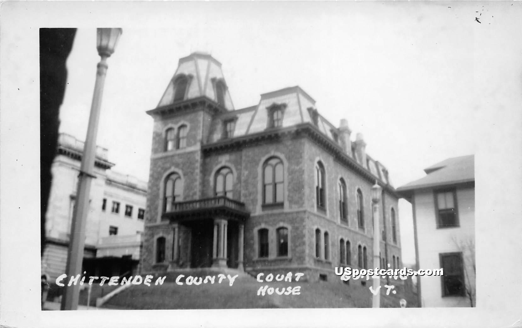 Chittenden County Court House - Burlington, Vermont VT Postcard
