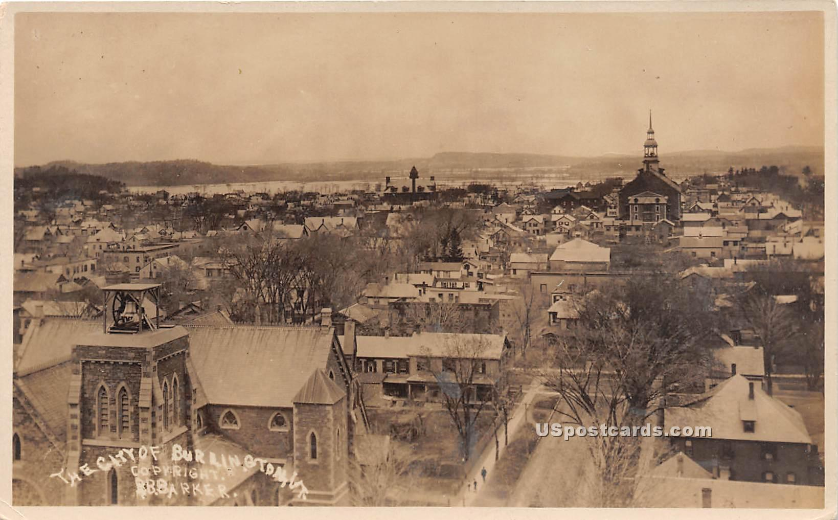 Birdseye View - Burlington, Vermont VT Postcard