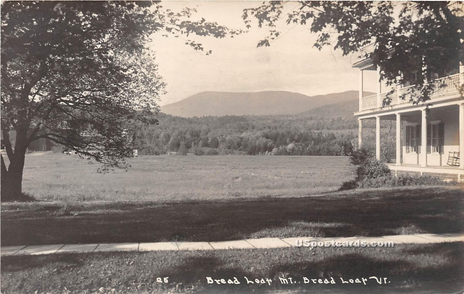 Bread Loaf Mountain - Vermont VT Postcard
