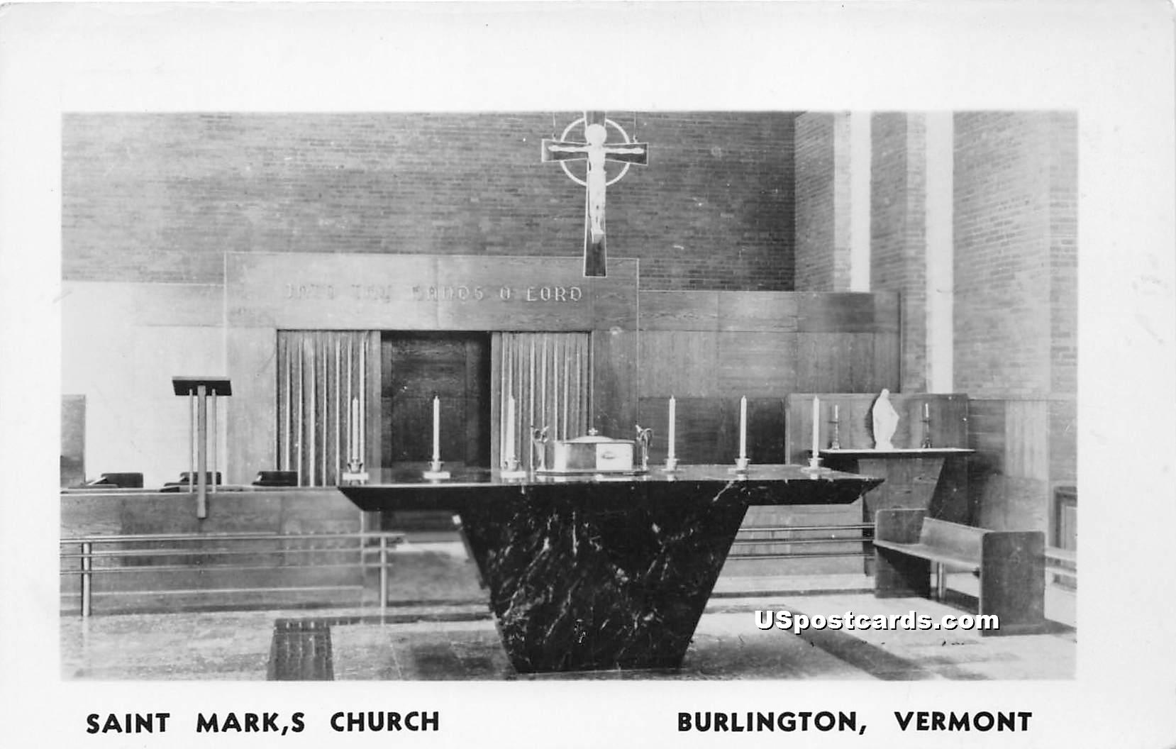 Saint Mark's Church - Burlington, Vermont VT Postcard