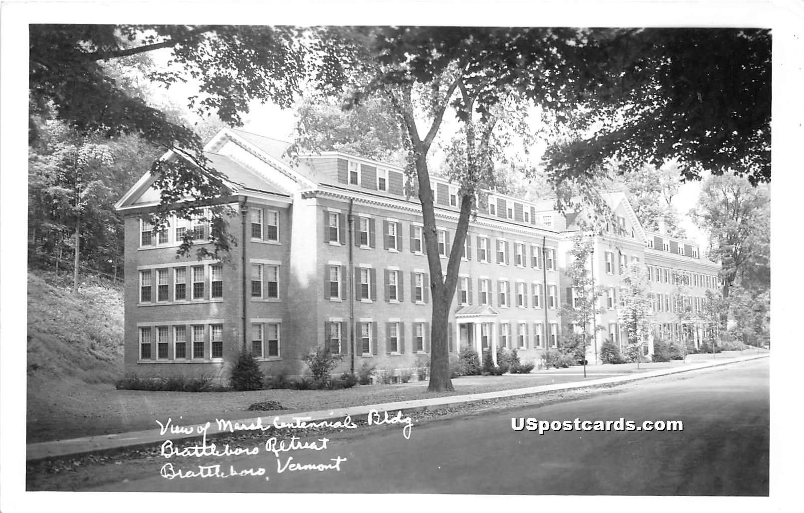 Brattleboro Retreat - Vermont VT Postcard