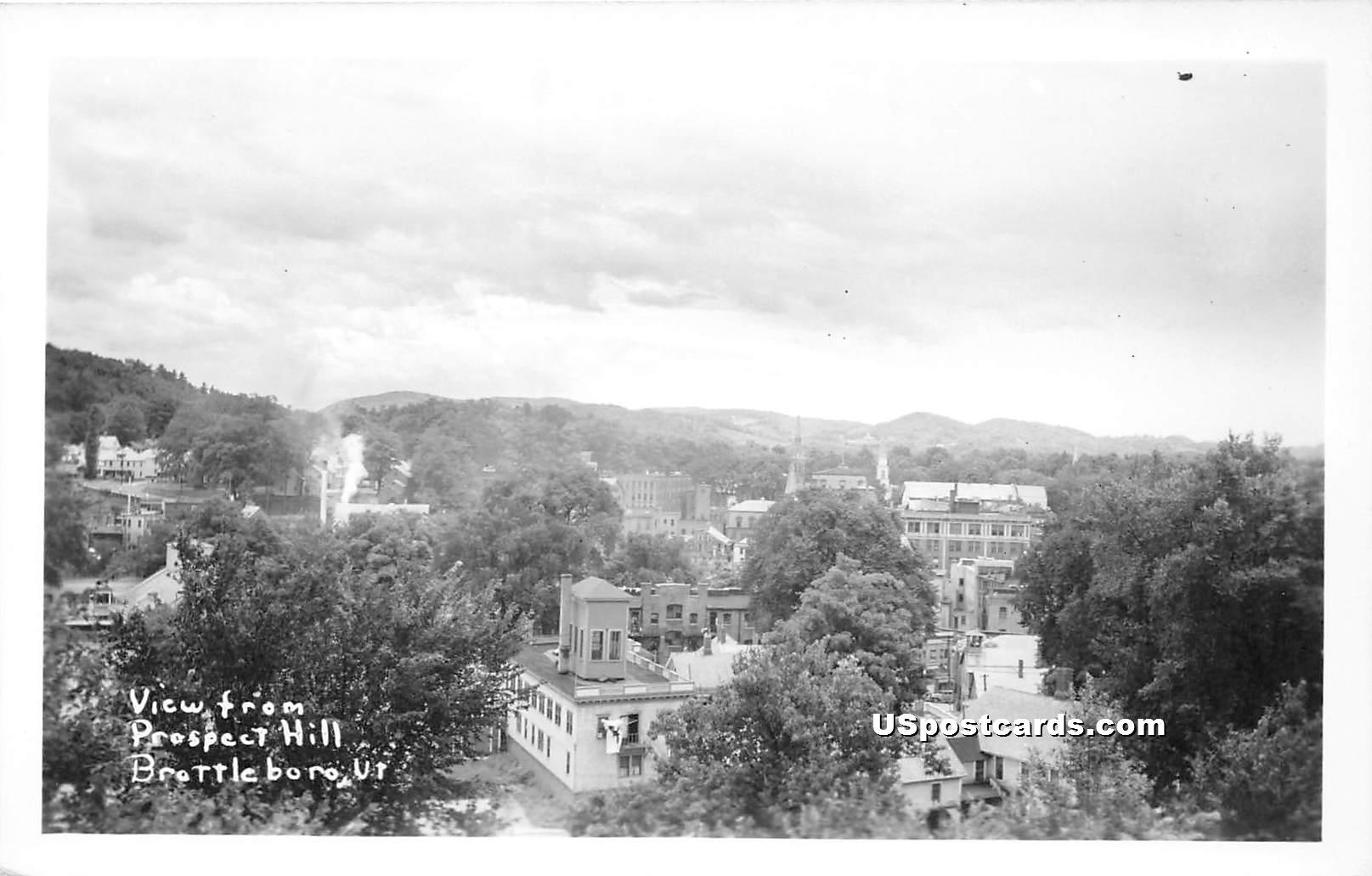 Prospect Hill - Brattleboro, Vermont VT Postcard