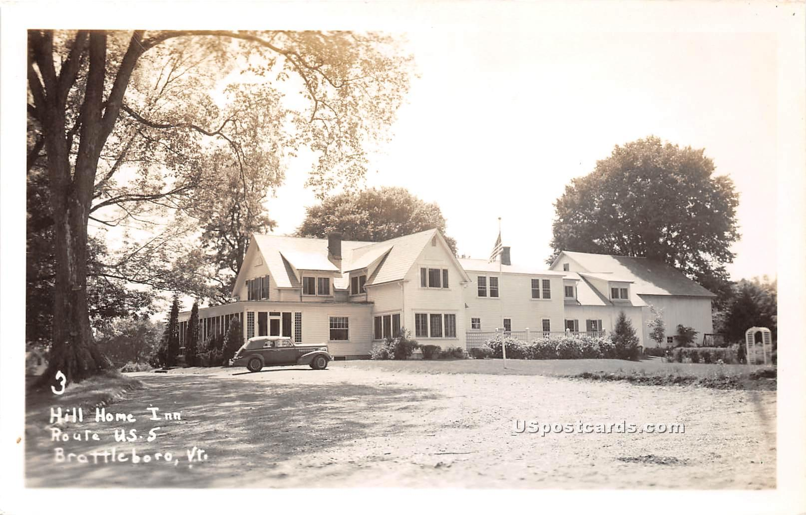 Hill Home Inn - Brattleboro, Vermont VT Postcard
