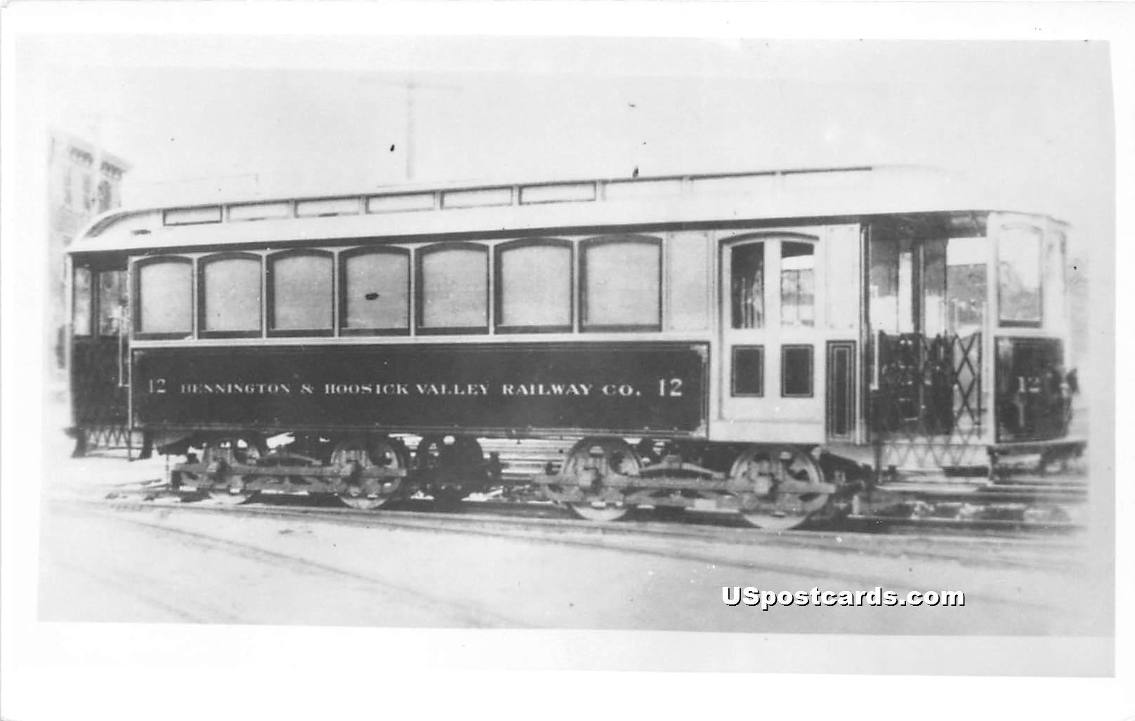 Trolley - Bennington, Vermont VT Postcard