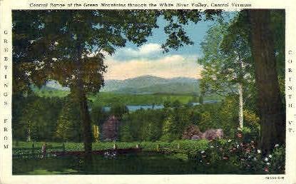Green Mountains - White River Valley, Vermont VT Postcard