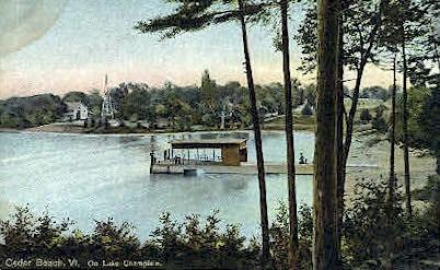 Lake Champlain - Cedar Beach, Vermont VT Postcard