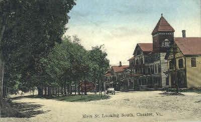 Main Street - Chester, Vermont VT Postcard