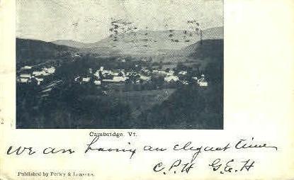 Cambridge - Vermont VT Postcard