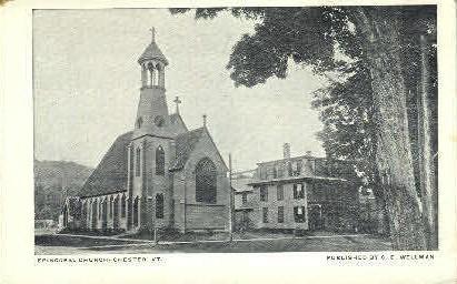 Episcopal church - Chester, Vermont VT Postcard