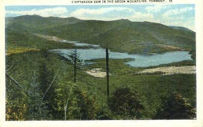 Chittenden Dam - Green Mountains, Vermont VT Postcard