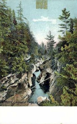 Rutland R. R. - Cavendish Gorge, Vermont VT Postcard
