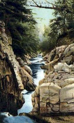 Clarendon Gorge - Vermont VT Postcard