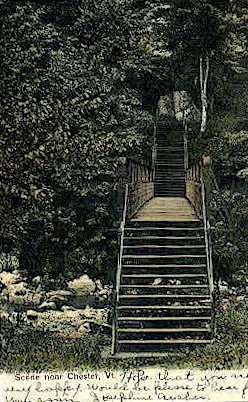 Stairs - Chester, Vermont VT Postcard