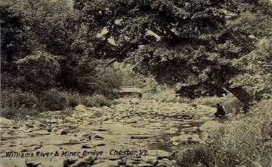 Williams River - Chester, Vermont VT Postcard