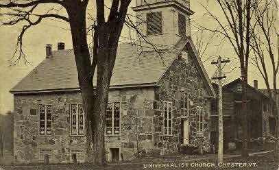 Universalist Church - Chester, Vermont VT Postcard