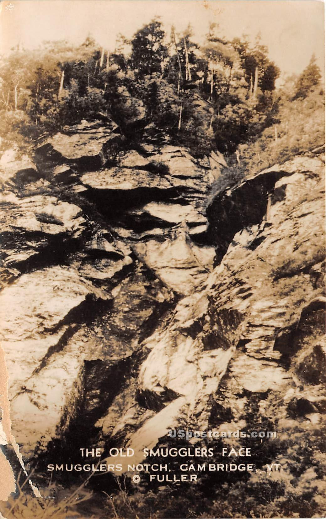 Old Smugglers Face - Cambridge, Vermont VT Postcard