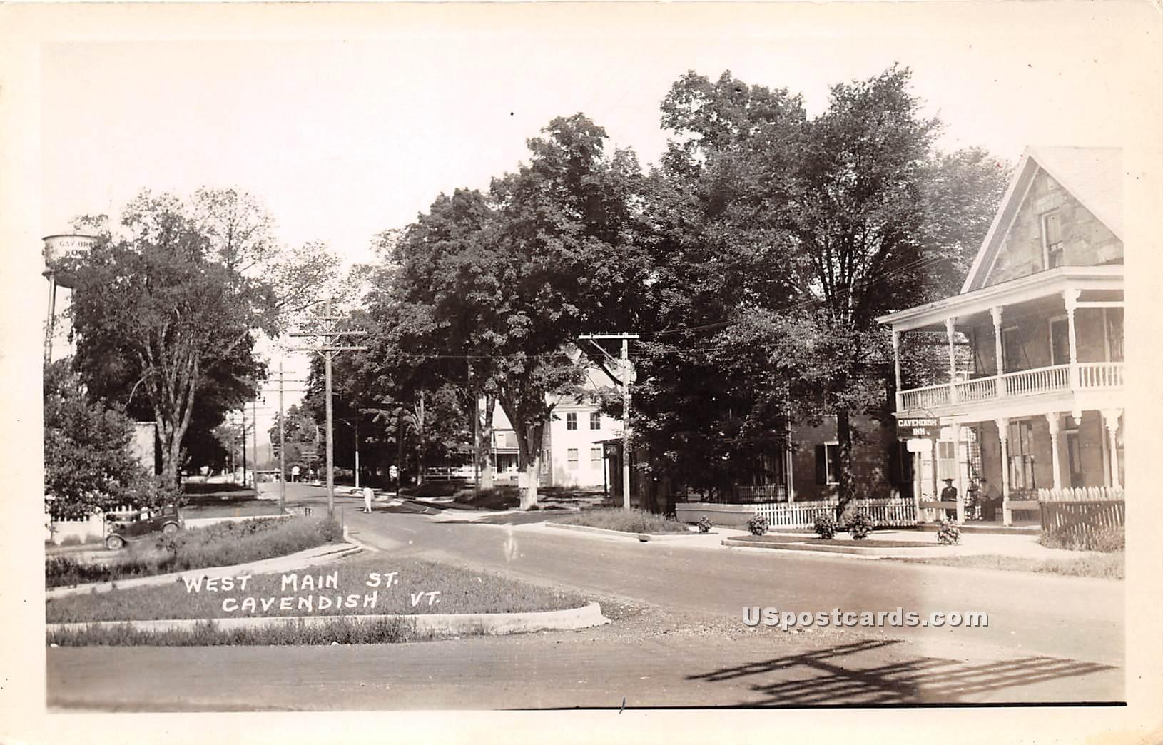 West Main Street - Cavendish, Vermont VT Postcard