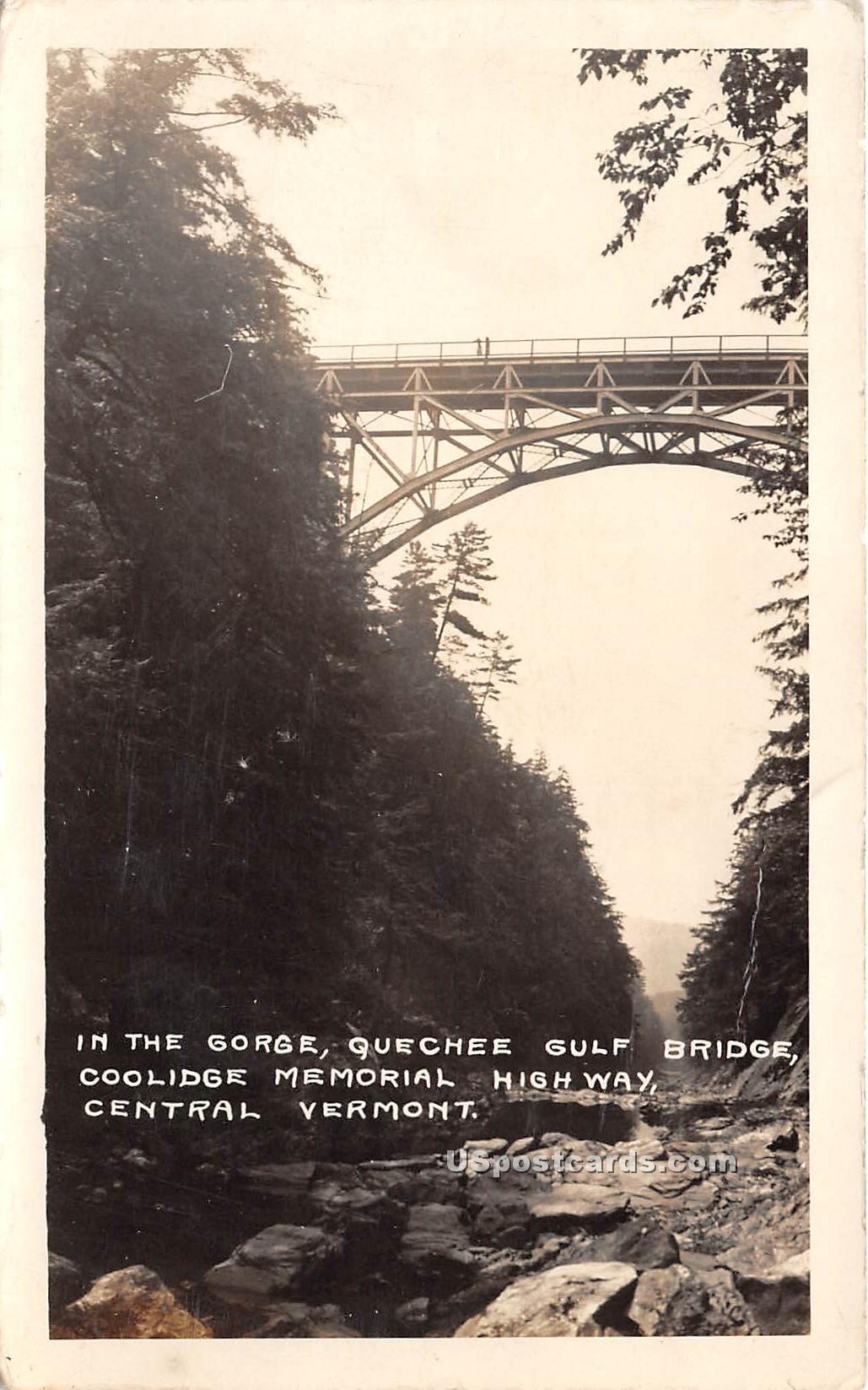 The Gorge - Coolidge Memorial Highway, Vermont VT Postcard