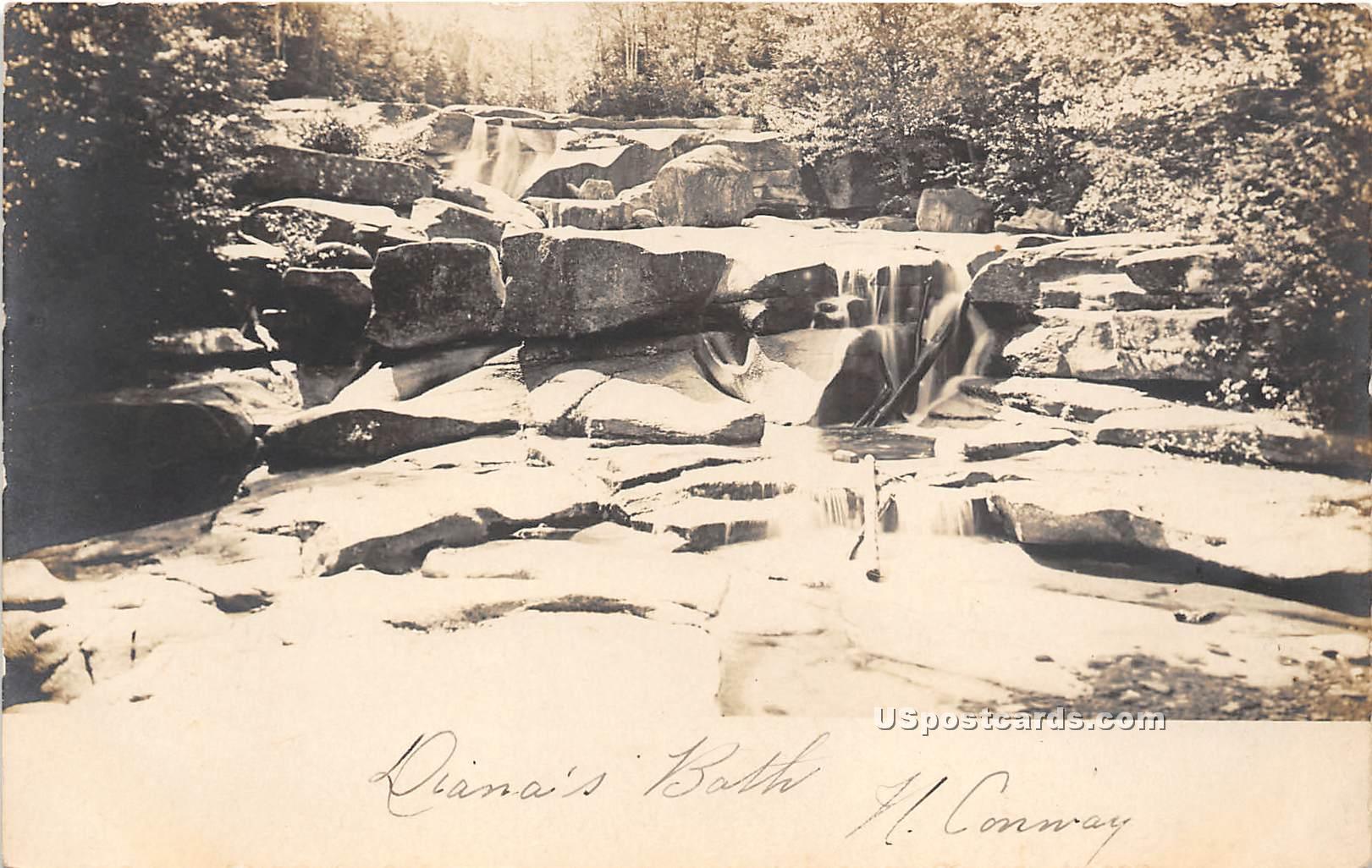 Diana's Bath - Conway, Vermont VT Postcard
