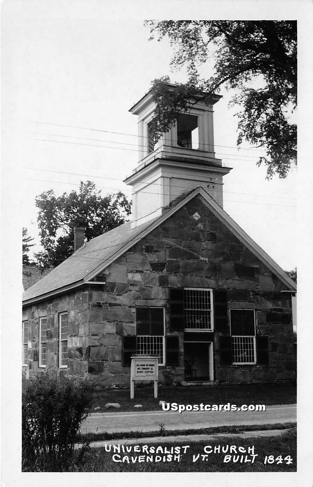 Universalist Church - Cavendish, Vermont VT Postcard