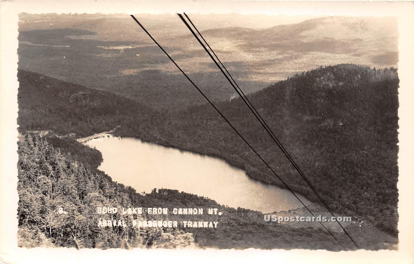 Echo Lake - Cannon Mountain, Vermont VT Postcard