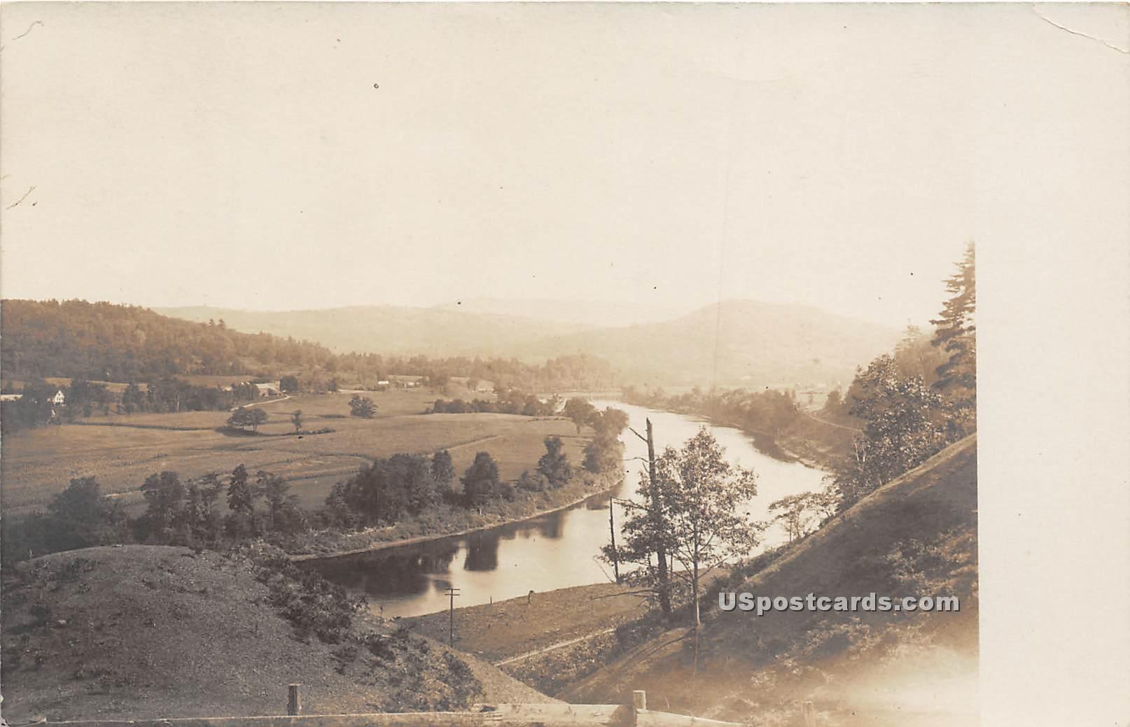Birdseye View - Connecticut River, Vermont VT Postcard