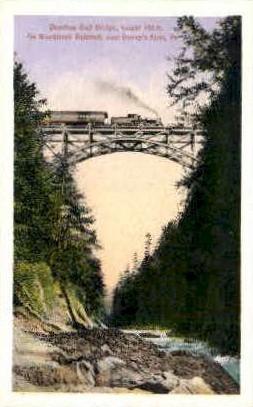 Quechee Gulf Bridge - Deweys Mills, Vermont VT Postcard
