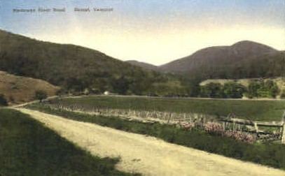 Metoowee River Road - Dorset, Vermont VT Postcard