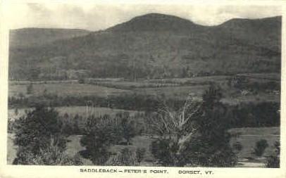 Saddleback-Peter's Point - Dorset, Vermont VT Postcard