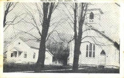 Union Church - Dorset, Vermont VT Postcard