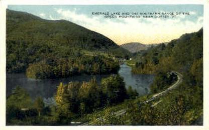 Emerald Lake - Dorset, Vermont VT Postcard