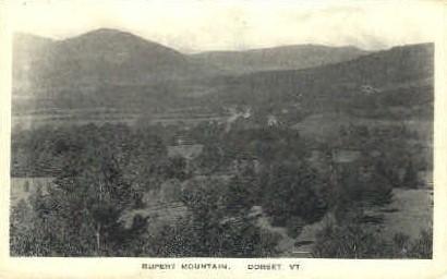 Rupert Mountian - Dorset, Vermont VT Postcard