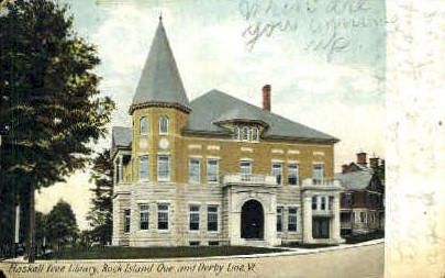 Haskell Free Library - Derby Line, Vermont VT Postcard