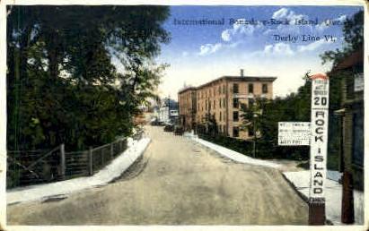 Rock Island - Derby Line, Vermont VT Postcard