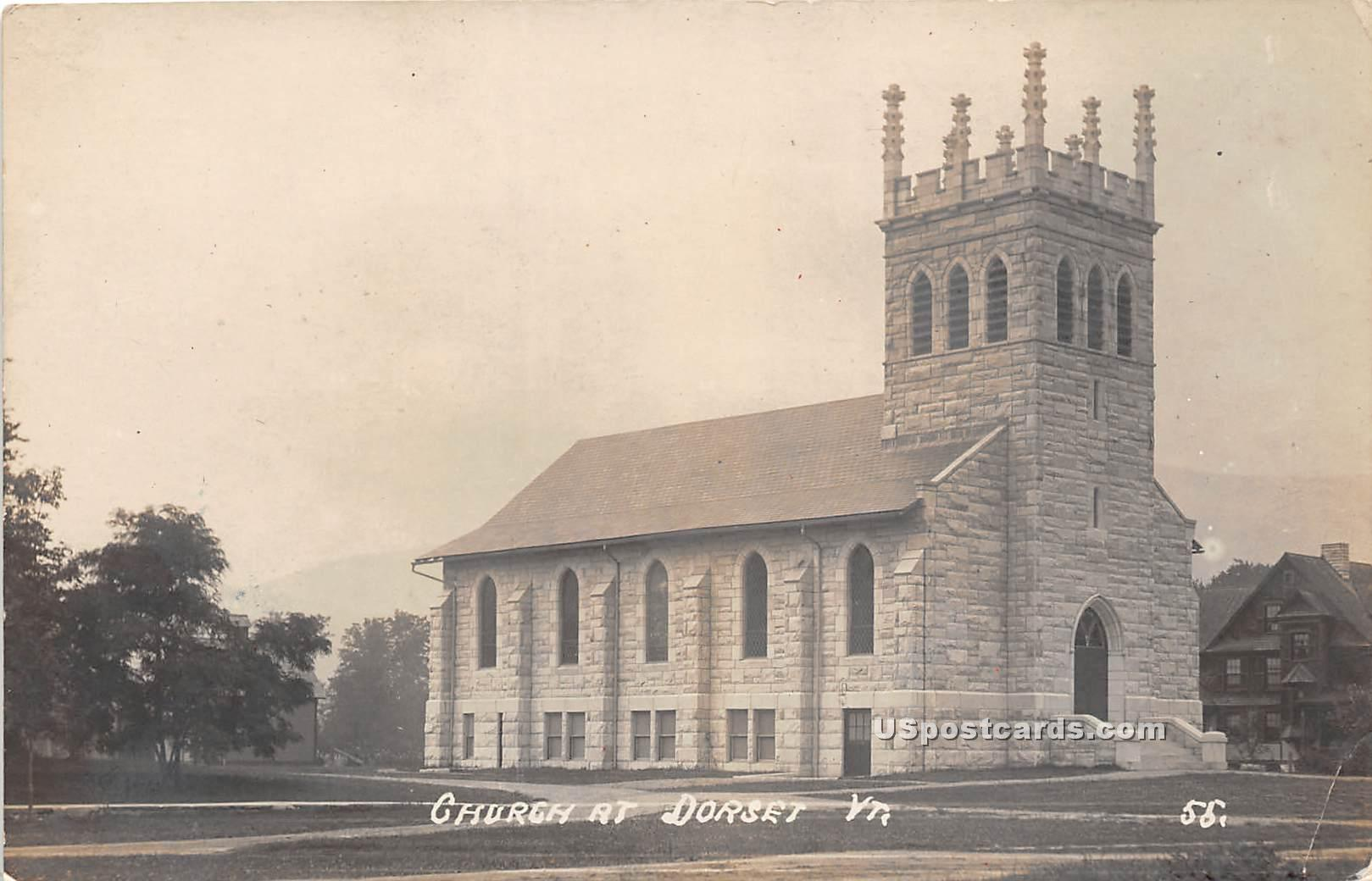 Church - Dorset, Vermont VT Postcard