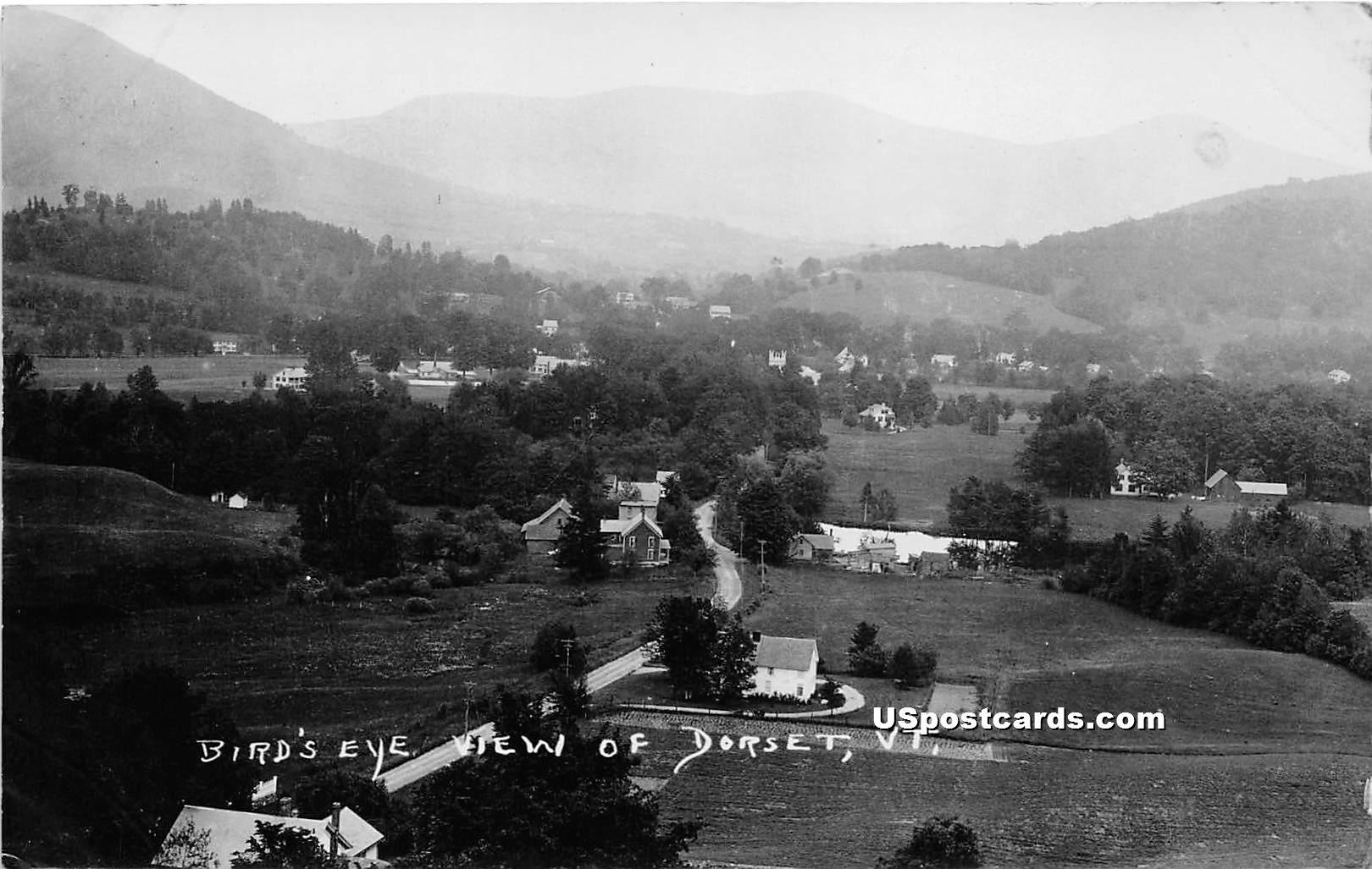 Birdseye View - Dorset, Vermont VT Postcard