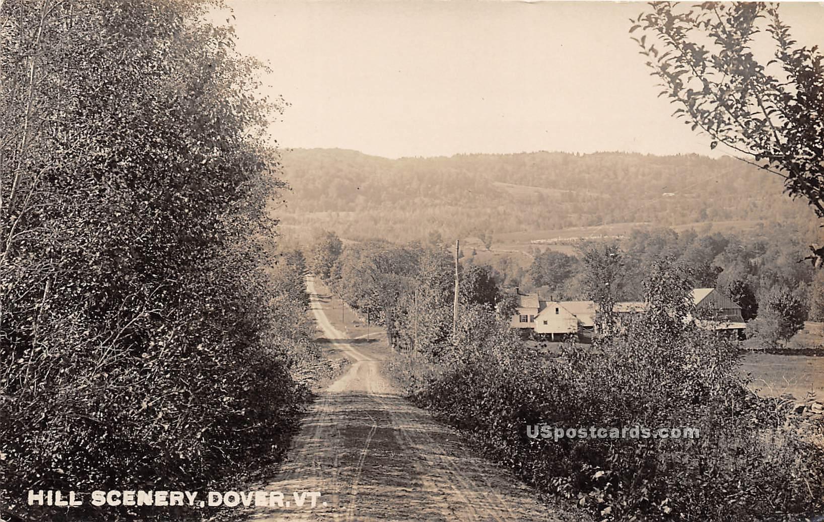 Hill Scenery - Dover, Vermont VT Postcard