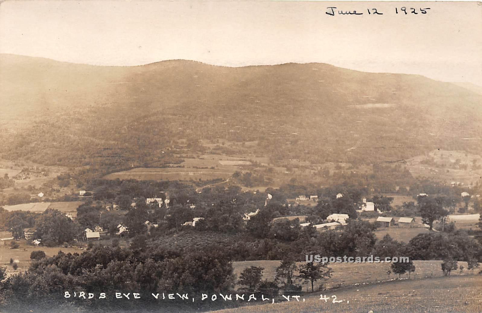 Birdseye View - Downal, Vermont VT Postcard