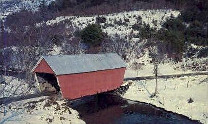 Vermont Covered Bridge - Bethel Postcard