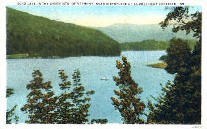 Echo Lake - Green Mountains, Vermont VT Postcard