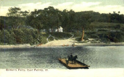 Britton's Ferry - East Putney, Vermont VT Postcard